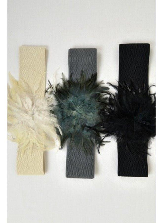 Grey Feather Belt