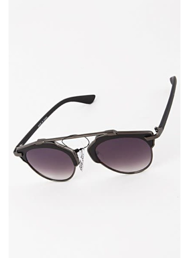 Round Frame Bar Sunglasses