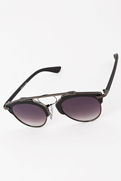 Round Frame Bar Sunglasses