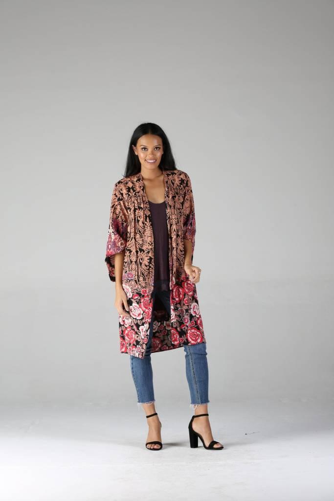 Mid Length Rust Kimono