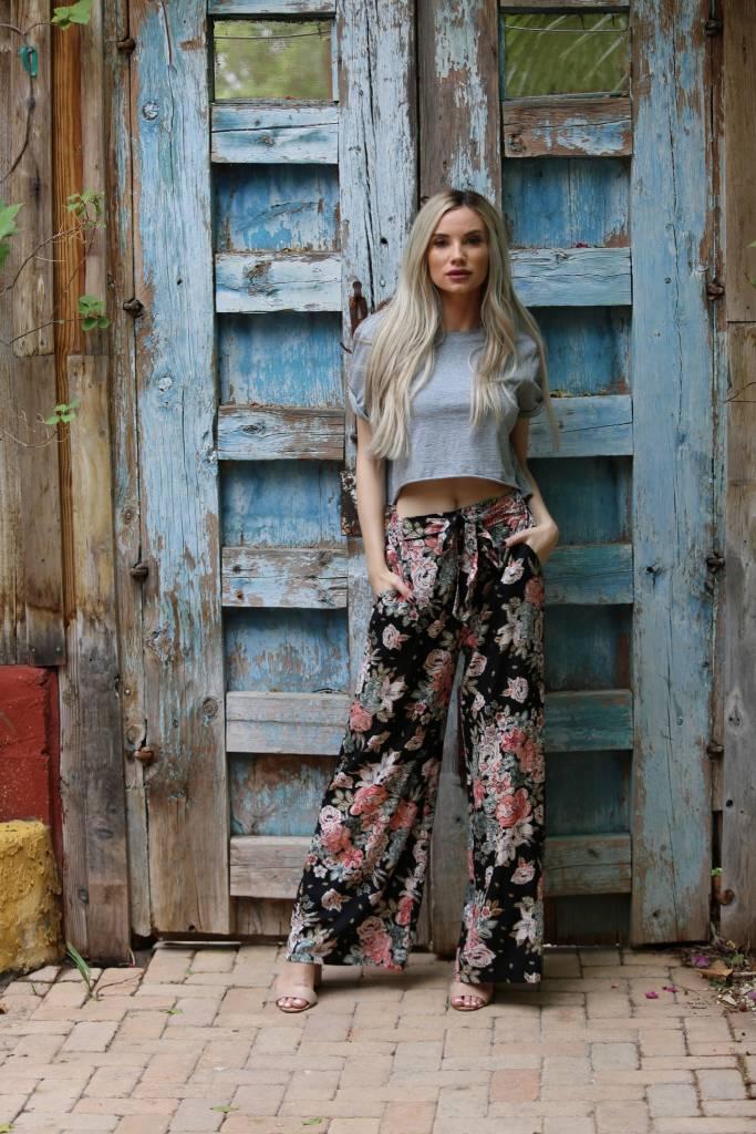 Floral Tie Pants