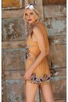 Floral Marigold Romper