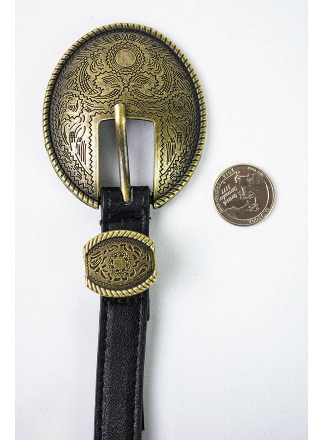 Oval Vintage Buckle Belt