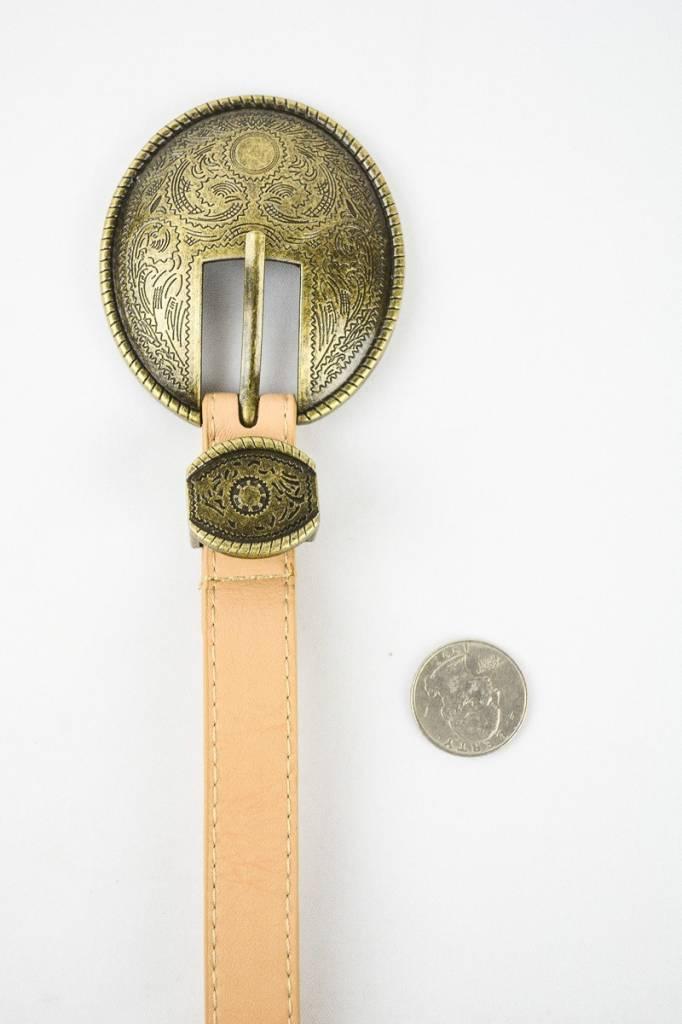 Oval Vintage Buckle Belt