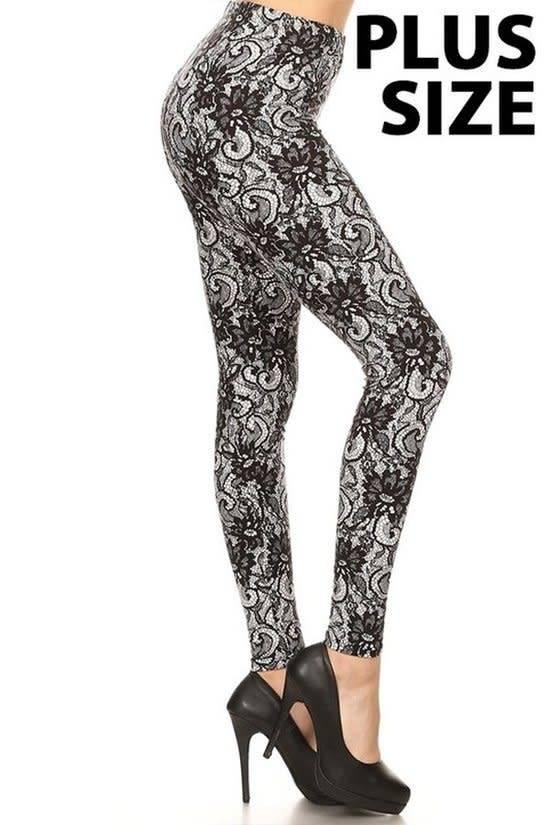 Leggings Lace Print