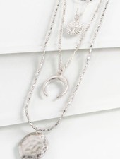 Four Layered Charm Necklace