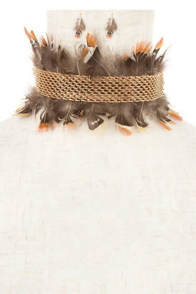 Choker Feather Set