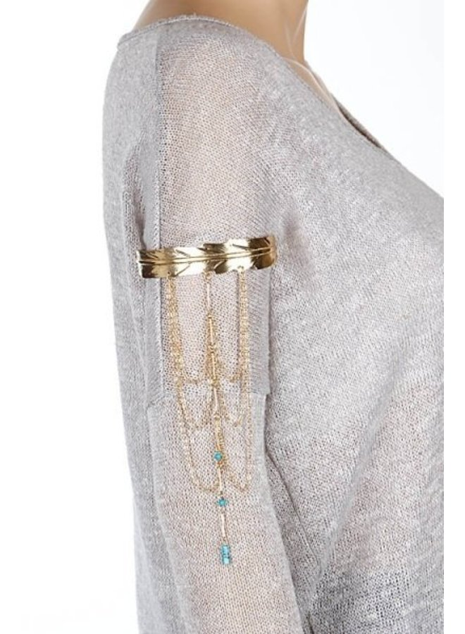 Beaded Chain Arm Cuff