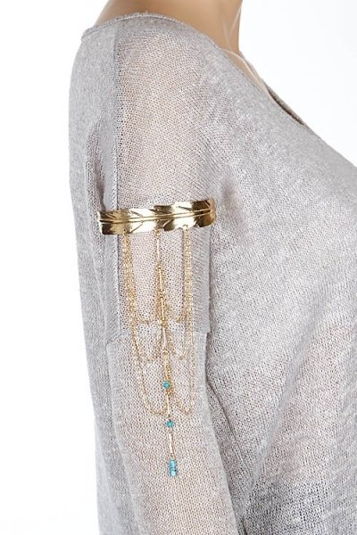 Beaded Chain Arm Cuff