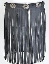 Fringe Boho Belt Skirt