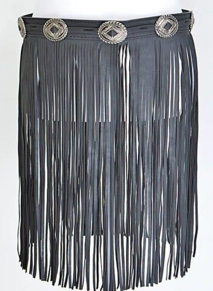 Fringe Boho Belt Skirt