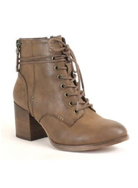 Block Heel Combat Boot