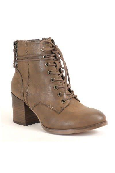 Block Heel Combat Boot