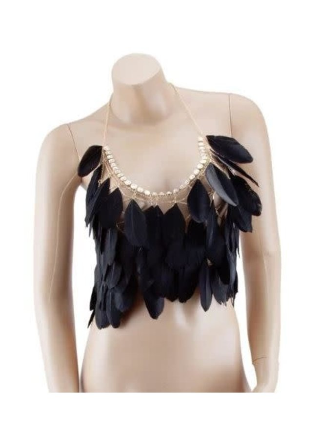 Feather Body Necklace