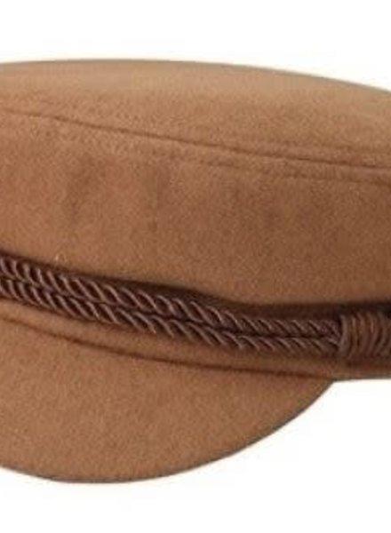 Camel Vintage Wool Greek Fisherman Hat