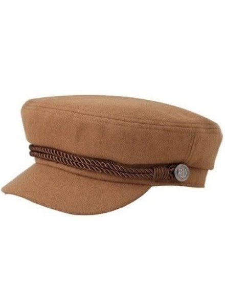 Camel Vintage Wool Greek Fisherman Hat