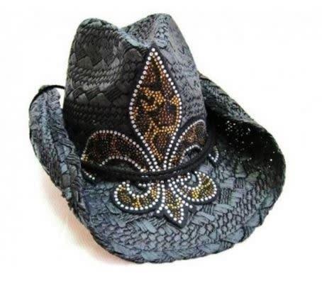 Black Leopard Bling Cowboy Hat