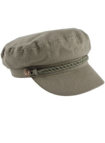 Olive Cotton Vintage Greek Fisherman Hat