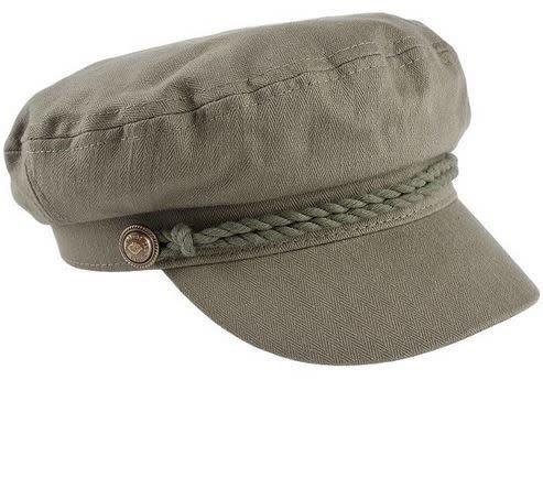 Olive Cotton Vintage Greek Fisherman Hat