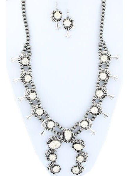 Ivory Squash Blossom Necklace