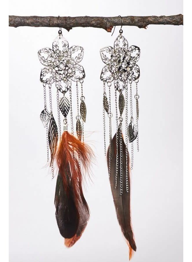 Feather & Tassel Earrings