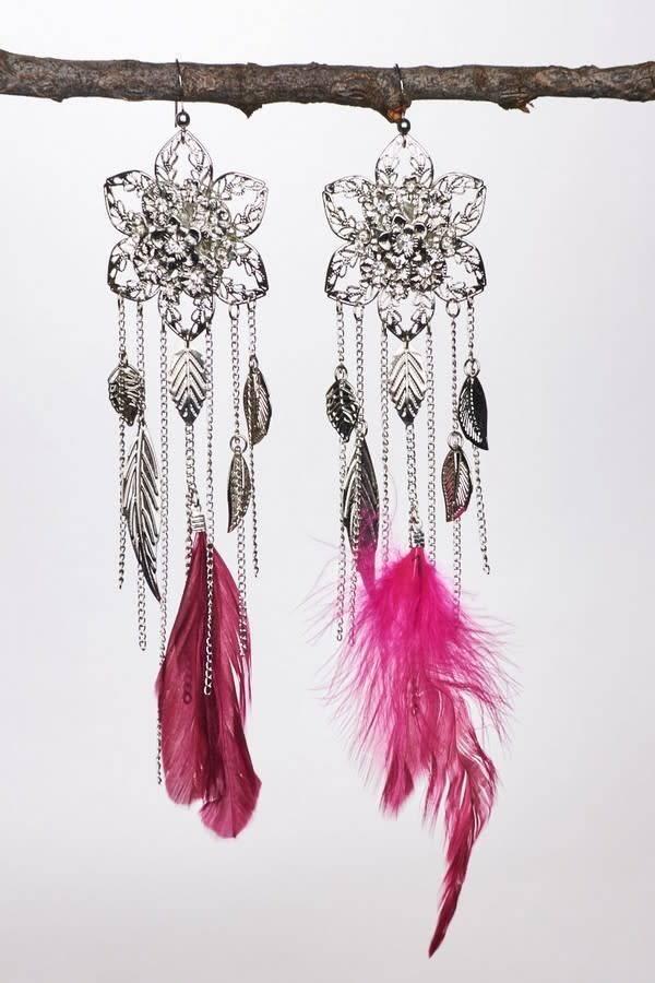 Feather & Tassel Earrings