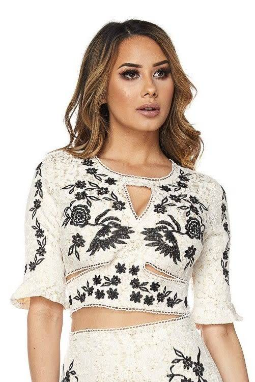 Embroidered SeparatesCrop Top