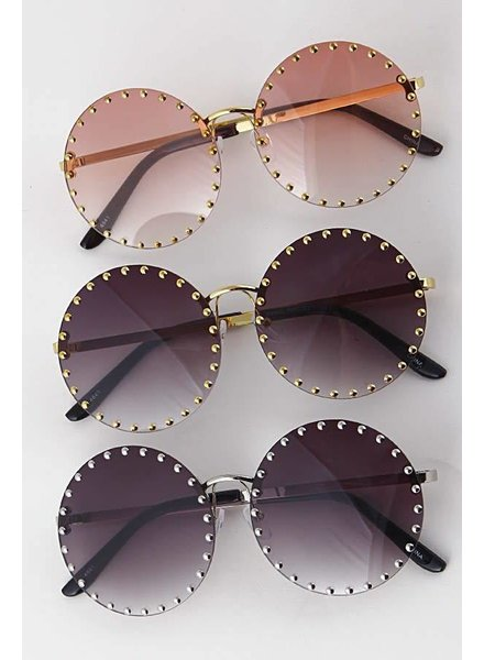Round Studded Sunglasses