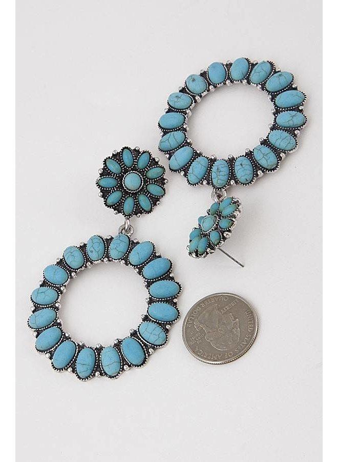 Western Stone Earrings