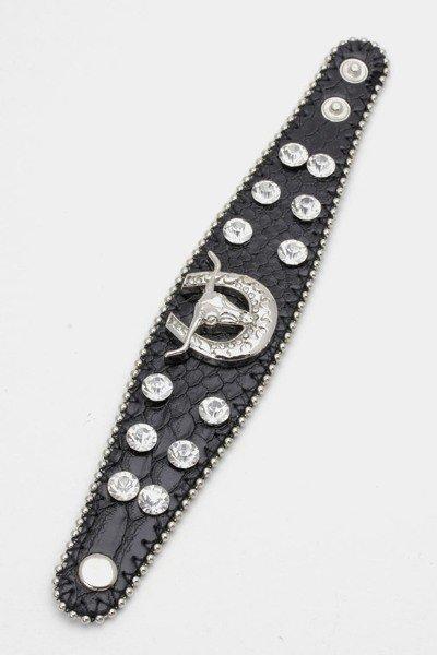 Bull Leather Cuff Bracelet