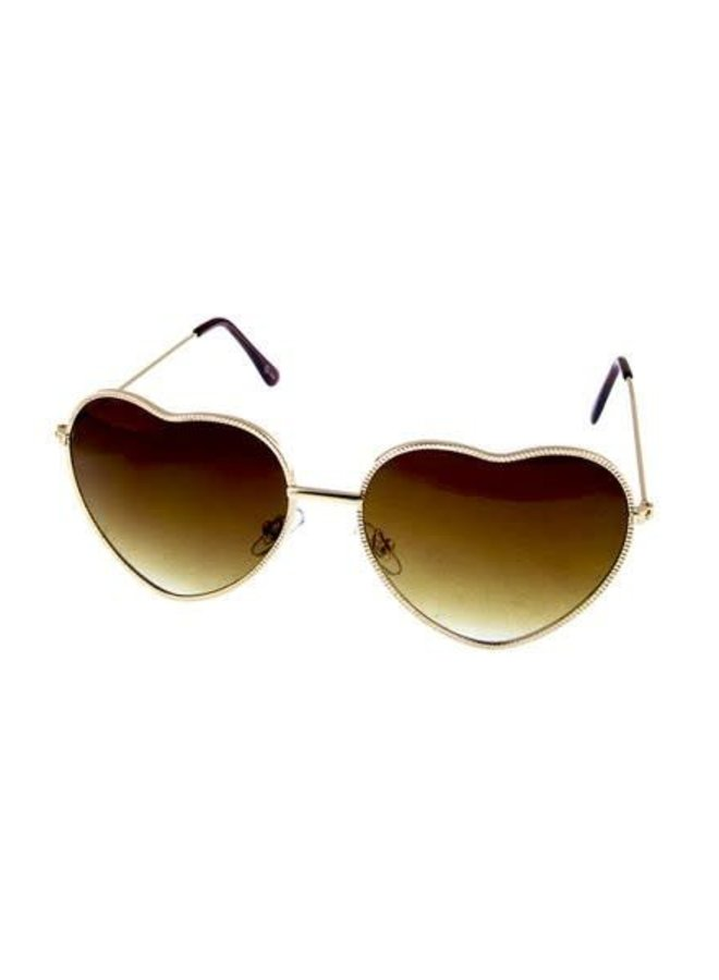 Metal Heart-Shaped Sunglasses
