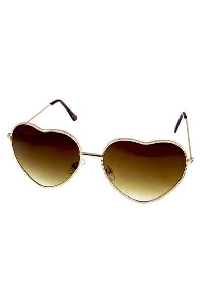 3b85ae0d63 Metal Heart-Shaped Sunglasses - Shabby Cottage Boho Boutique
