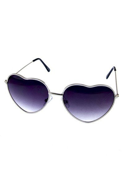 Metal Heart-Shaped Sunglasses