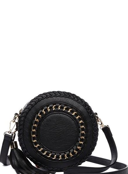 Round Tassel Crossbody Purse