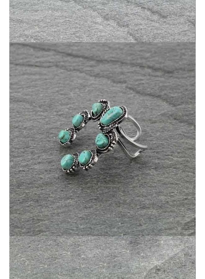 Squash Blossom Stone Ring