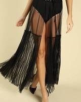 Black Sheer Maxi Overskirt
