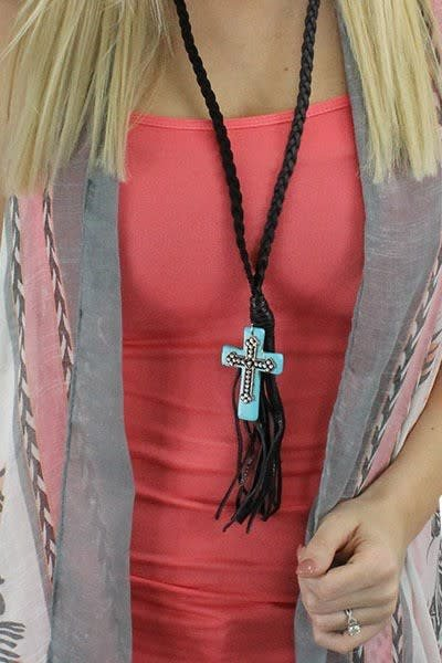 Braided Cross Necklace