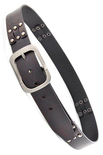 Black Genuine Leather Vintage Belt