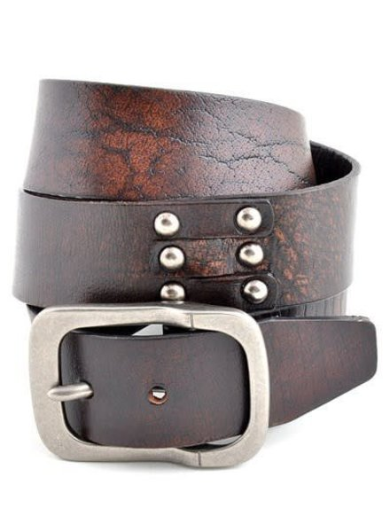 Brown Genuine Leather Vintage Belt