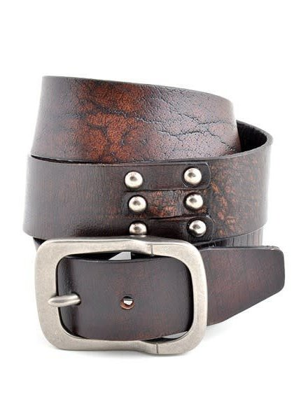 Brown Genuine Leather Vintage Belt