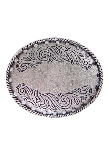 Flower Engraved Belt Buckle