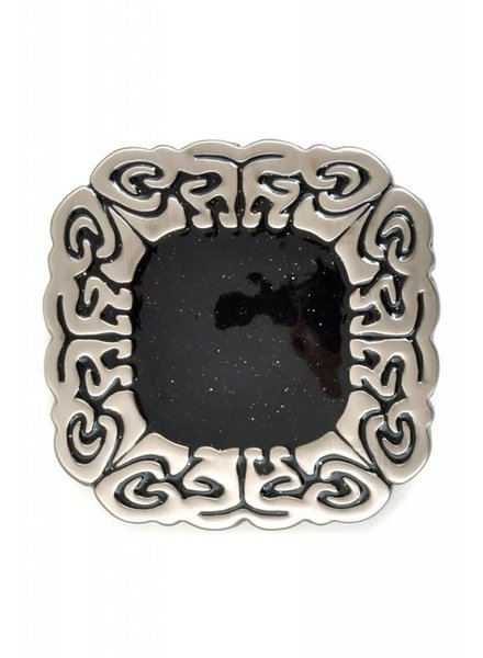 Square Black Stone Belt Buckle