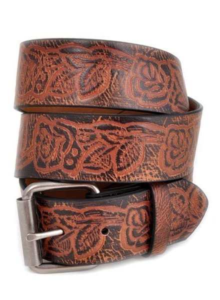 Western Embossed Leatherrette Belt