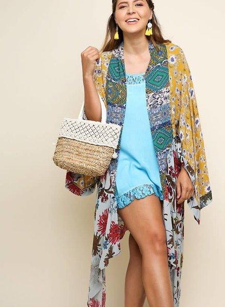 Multi Floral Colored Kimono