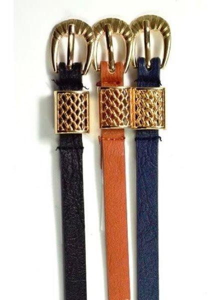 Skinny Faux Leather Belt