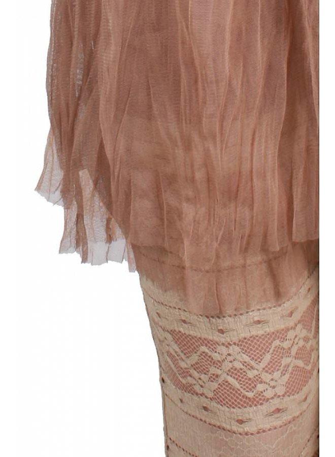 Skirt Overlay Laced Leggings