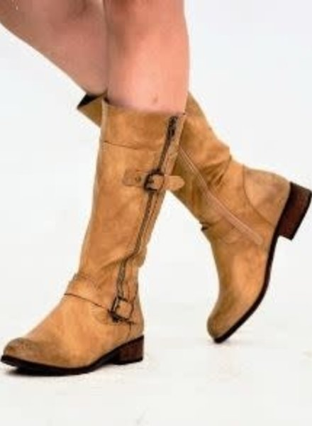 Beige Urban Riding Boots