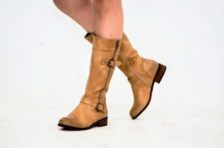 Beige Urban Riding Boots