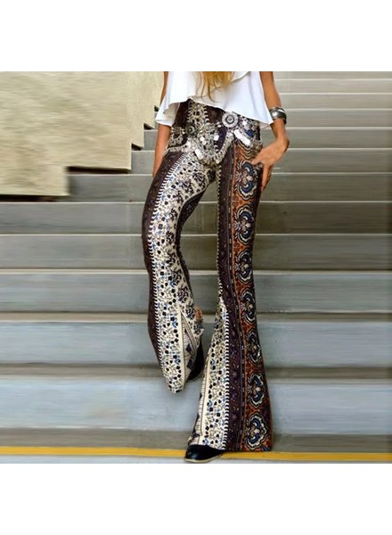 Boho Pants - Flair Bottom - Multi