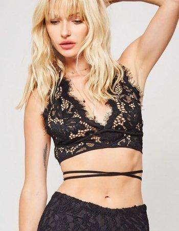 Sheer Black Lace Halter